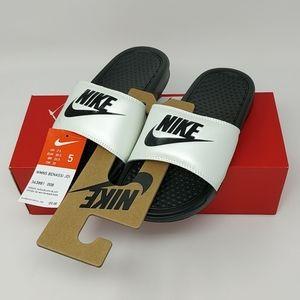 Nike WMNS Benassi JDI Spruce Aura Black 343881-008